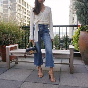 Zara Cropped Wide Leg Mom Jeans 25